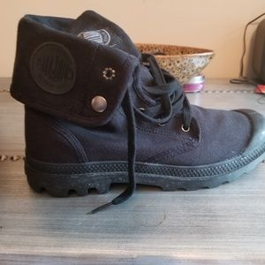 Black Canvas Boots